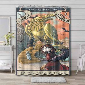 A Series of Unfortunate Events TV Series Shower Curtain Bathroom Decoration