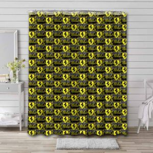 Cars Shower Curtain Bathroom Decoration Waterproof Polyester Fabric.