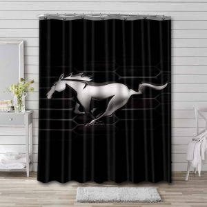 Ford Mustang Logo Shower Curtain Bathroom Decoration