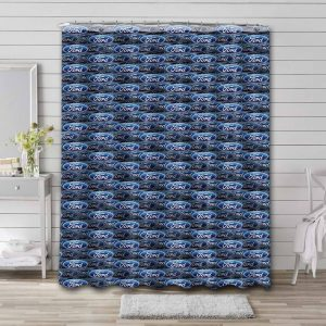 Ford Logo Pattern Shower Curtain Waterproof Polyester