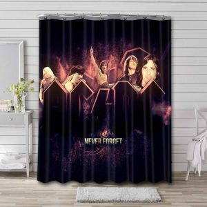 AC/DC Rock Band Shower Curtain Waterproof Polyester