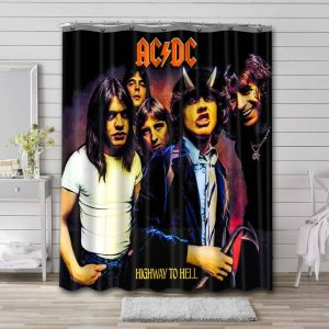 AC/DC Highway To Hell Shower Curtain Bathroom Decoration