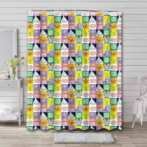 Adventure Time Patterns Shower Curtain Waterproof Polyester