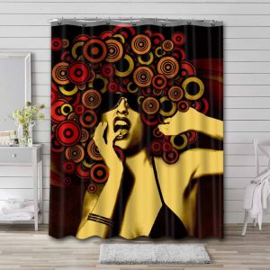 Afrocentric Woman Shower Curtain Bathroom Decoration