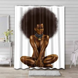 Afrocentric Shower Curtain Bathroom Waterproof Fabric