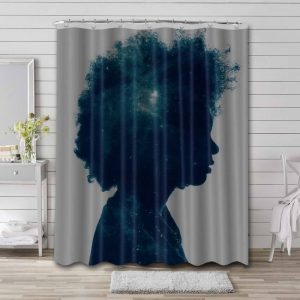 Afrocentric Shower Curtain Waterproof Polyester Fabric