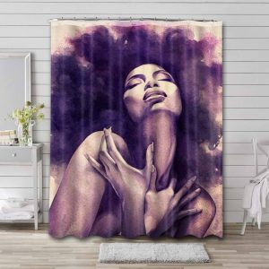 Afrocentric African Waterproof Bathroom Shower Curtain