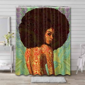 Afrocentric African Waterproof Curtain Bathroom Shower