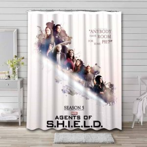 Agents of S.H.I.E.L.D. TV Series Shower Curtain Bathroom Decoration