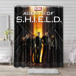 Agents of SHIELD TV Series Shower Curtain Waterproof Polyester