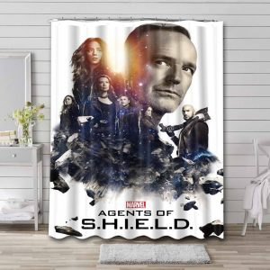Agents of S.H.I.E.L.D. TV Series Bathroom Shower Curtain Waterproof
