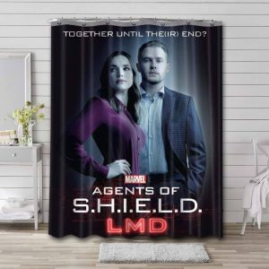 Agents of S.H.I.E.L.D. TV Series Waterproof Bathroom Shower Curtain