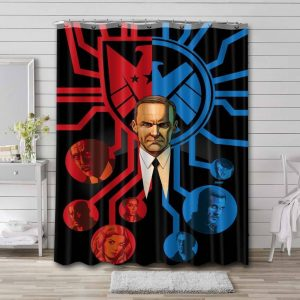 Marvel Agents of S.H.I.E.L.D. Bathroom Curtain Shower Waterproof