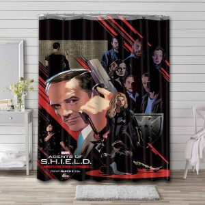 Marvel Agents of S.H.I.E.L.D. Shower Curtain Waterproof Polyester