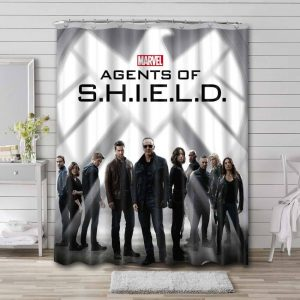 Agents of SHIELD Shower Curtain Waterproof Polyester