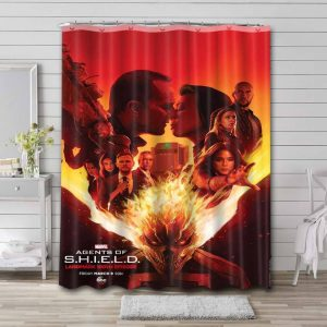 Agents of S.H.I.E.L.D. Bathroom Shower Curtain Waterproof