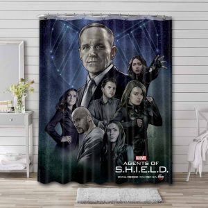 Agents of S.H.I.E.L.D. Waterproof Bathroom Shower Curtain