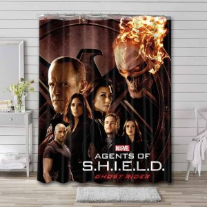 Agents of S.H.I.E.L.D. Waterproof Curtain Bathroom Shower