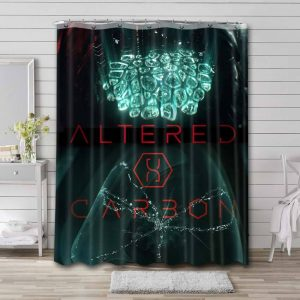 Altered Carbon Bathroom Curtain Shower Waterproof