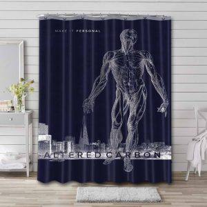 Altered Carbon Waterproof Curtain Bathroom Shower