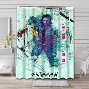 Altered Carbon Shower Curtain Bathroom Waterproof