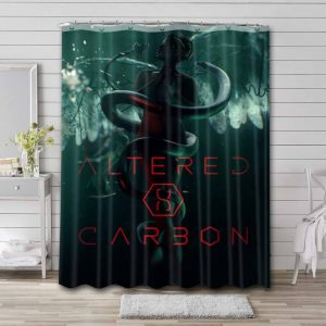 Altered Carbon Shower Curtain