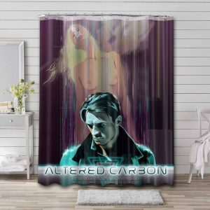 Altered Carbon Bathroom Shower Curtain Waterproof