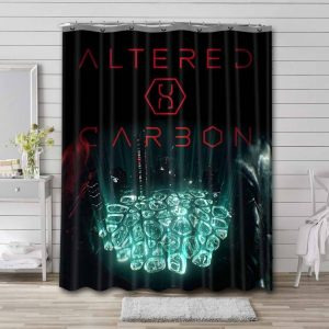 Altered Carbon Waterproof Bathroom Shower Curtain