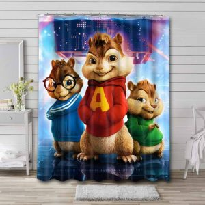 Alvin and the Chipmunks Waterproof Curtain Bathroom Shower