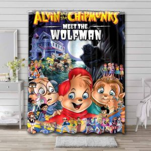 Alvin and the Chipmunks Meet The Wolfman Waterproof Curtain Bathroom Shower