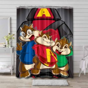 Alvin and the Chipmunks Shower Curtain Bathroom Waterproof