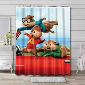 Alvin and the Chipmunks Waterproof Shower Curtain Bathroom