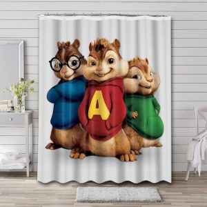 Alvin and the Chipmunks Waterproof Bathroom Shower Curtain