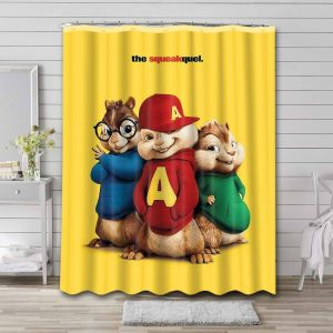 Alvin and the Chipmunks The Squeakquel Waterproof Curtain Bathroom Shower