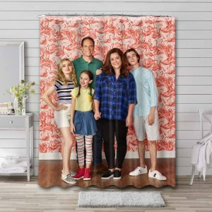 American Housewife Shower Curtain Waterproof Polyester
