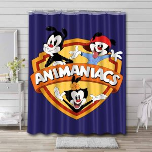 Animaniacs Shower Curtain Waterproof Polyester