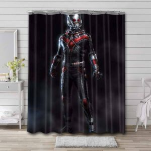 Ant Man Shower Curtain Bathroom Decoration Waterproof Polyester Fabric.