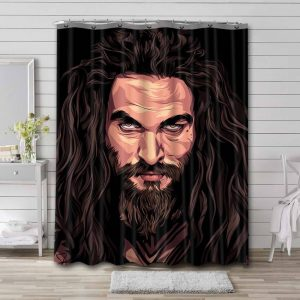 Aquaman Justice League Shower Curtain Waterproof Polyester