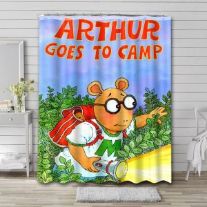 Arthur Goes To Camp Shower Curtain Waterproof Polyester
