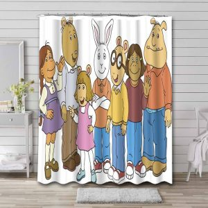 Arthur Characters Shower Curtain Waterproof Polyester