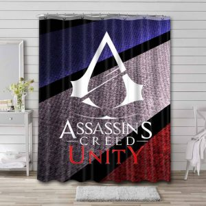 Assassin's Creed Unity Shower Curtain Waterproof Polyester