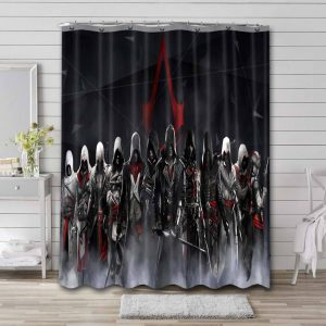 Assassin's Creed Characters Shower Curtain Waterproof Polyester