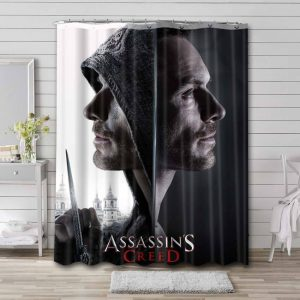 Assassin's Creed Movie Shower Curtain Waterproof Polyester