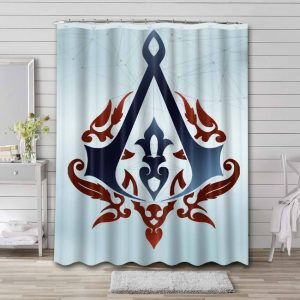 Assassin's Creed Shower Curtain Bathroom Decoration Waterproof Polyester Fabric.