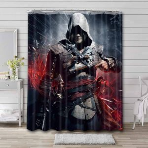 Assassin's Creed Shower Curtain Waterproof Polyester