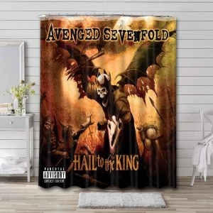 Avenged Sevenfold Hail To The King Bathroom Curtain Shower Waterproof