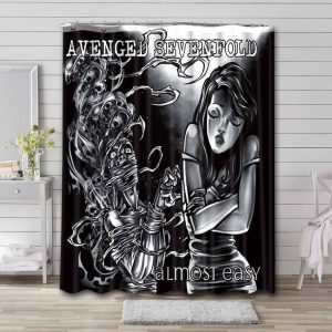 Avenged Sevenfold Almost Easy Shower Curtain Bathroom Waterproof
