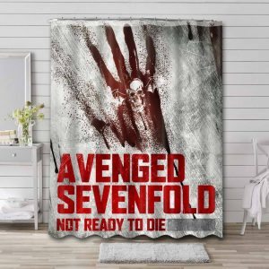 Avenged Sevenfold Not Ready To Die Shower Curtain Bathroom Decoration