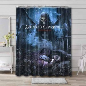 Avenged Sevenfold Nightmare Shower Curtain Waterproof Polyester