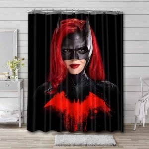 Batwoman Ruby Rose Shower Curtain Waterproof Polyester